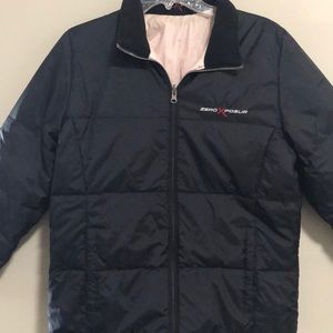 ZeroXposure  Black Puffer Jacket Zip Up Reversible